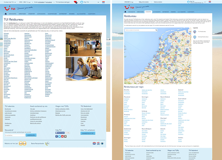 Travel Agency directory redesign